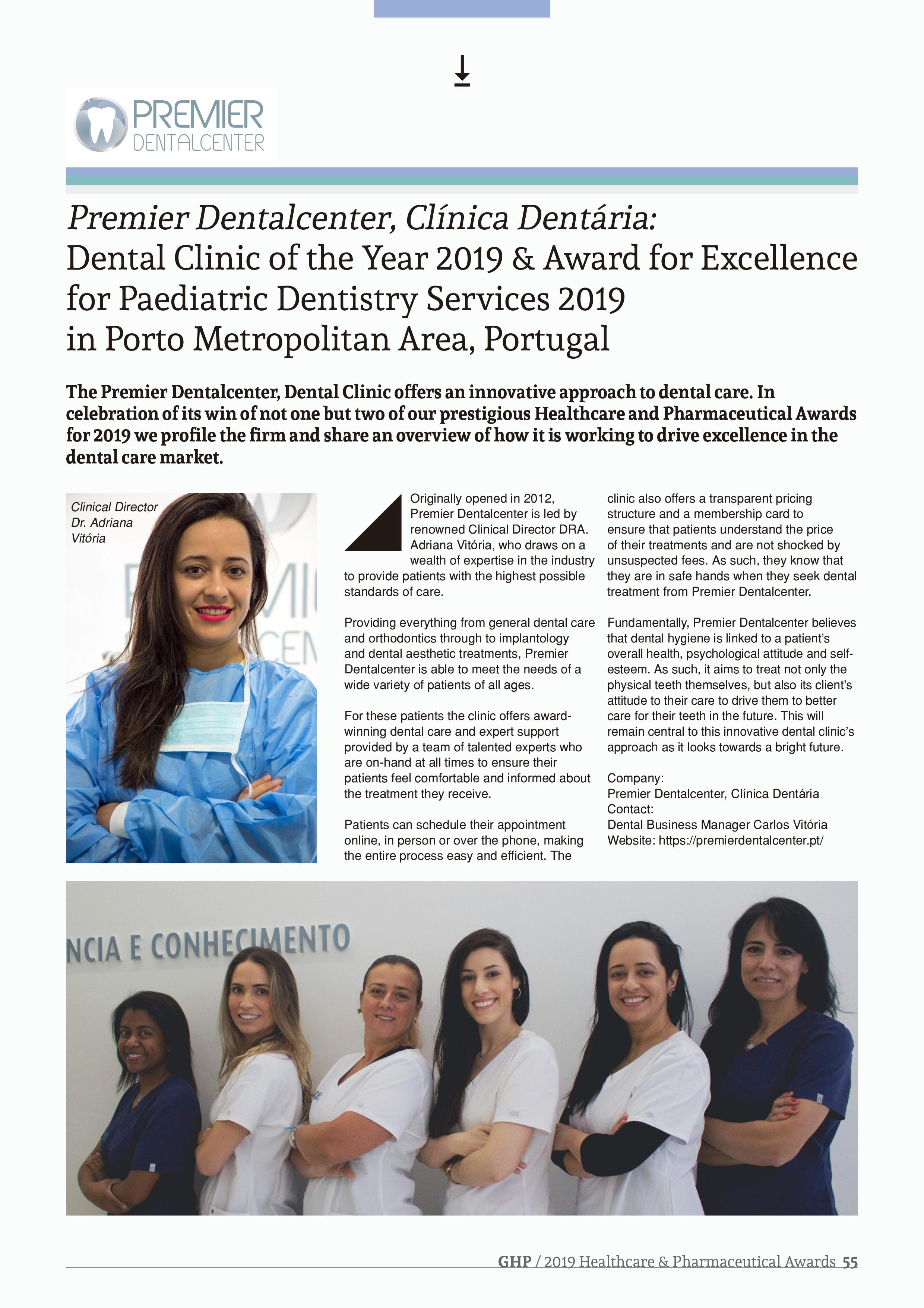 GHP 2019 Healthcare & Pharmaceutical Awards Premier DentalCenter