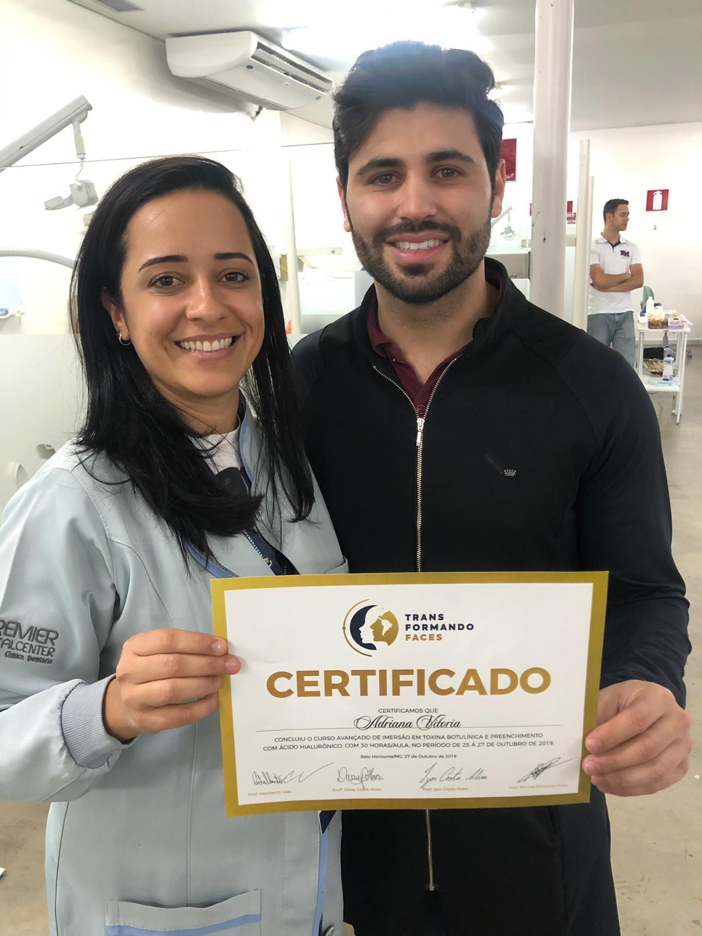 Dra Adriana Vitoria com o famoso Dr Igor Costa Alves